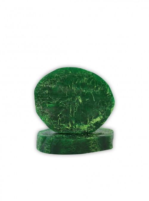 "Natural soap with plant Luffa sponge ""Green tea"""