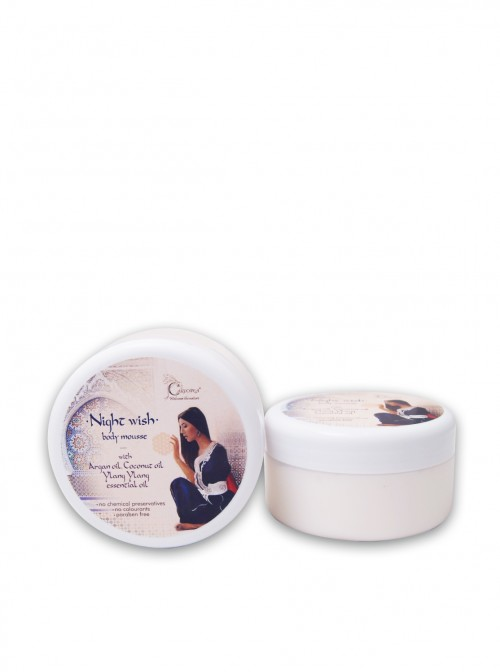 "Body mousse with argan oil and ylang-ylang extract ""Night Wish""  250 ml."