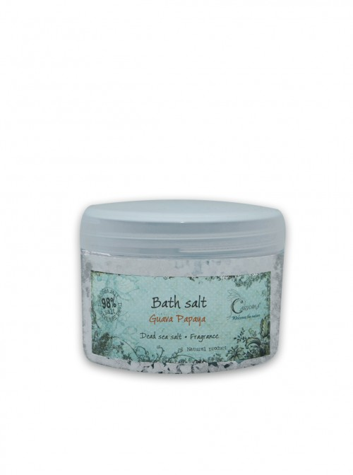 "Dead sea bath salts ""Guava-Papaya"" 400 ml."