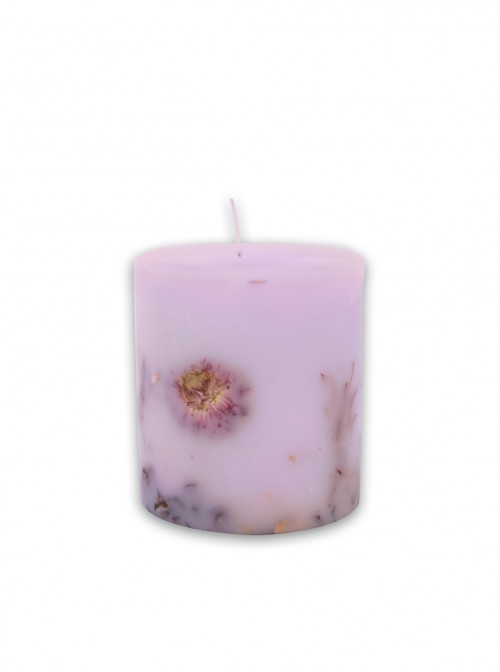 Decorated candle Purple