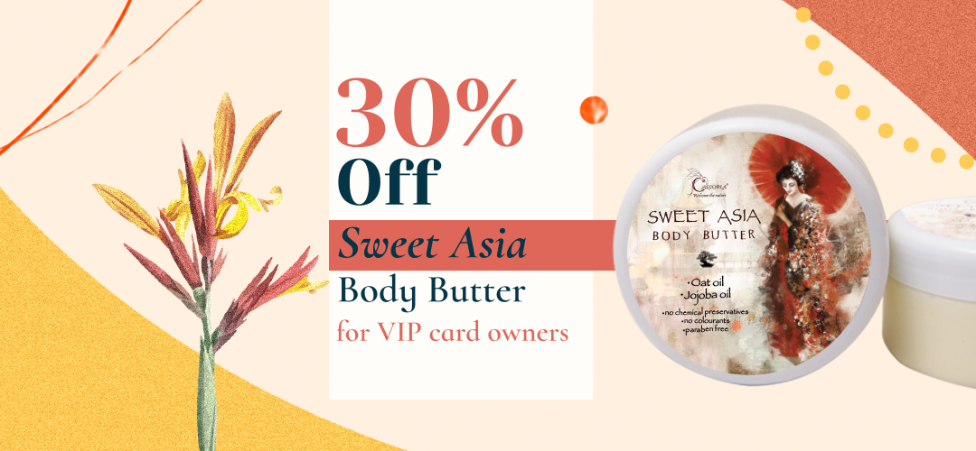 30% discount on Sweet Asian Body Butter for VIP card holders